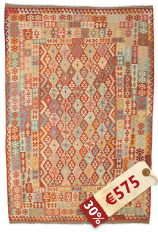 Alfombra Kilim Afghan Old style ABCK1437