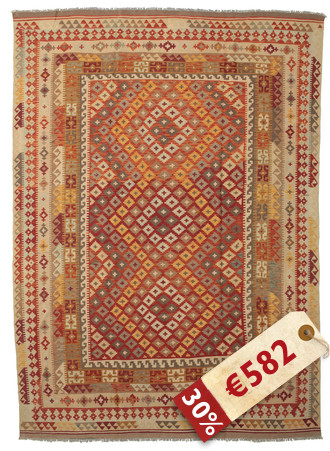 Tapis Kilim Afghan Old style ABCK1444