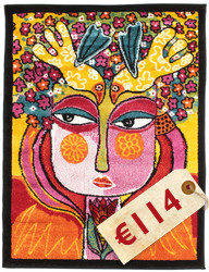 She has flowers in her hair carpet CVD3198