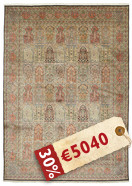 Kashmir pure silk carpet VEXG55