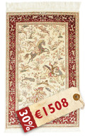 Qum silk signed: Qum Sharifi carpet BTC5