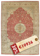 Kashmir pure silk carpet VEXJ13