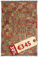 Alfombra Kilim Afghan Old style VEXZS21