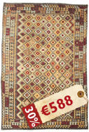 Kilim Afghan Old style carpet ABCK1447