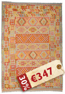 Kilim Afghan Old style carpet ABCK1396