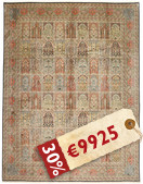 Kashmir pure silk carpet XVZA33
