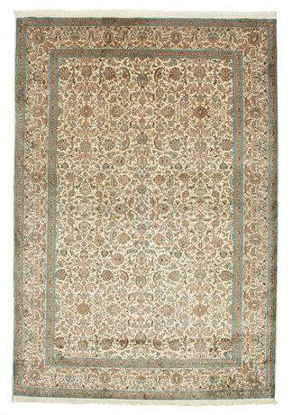 Kashmir pure silk carpet VEXG84