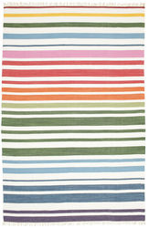 Rainbow Stripe - White carpet CVD1766