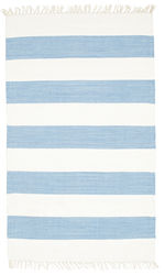 Cotton stripe - Light Blue carpet CVD4892