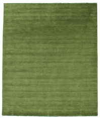 Handloom fringes - Dark Green carpet CVD5277