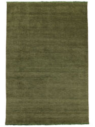 Handloom fringes - Dark Green carpet CVD5274