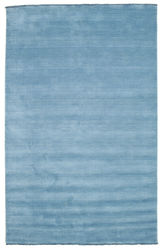 Handloom fringes - Light Blue carpet CVD5424