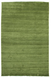 Handloom fringes - Dark Green carpet CVD5280
