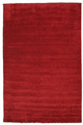 Handloom fringes - Dark Red carpet CVD5253