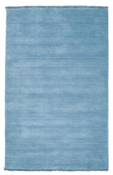 Handloom fringes - Light Blue carpet CVD5431