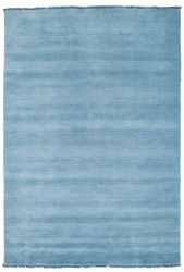 Handloom fringes - Light Blue carpet CVD5429