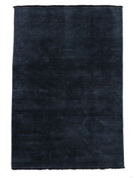 Handloom fringes - Dark Blue carpet CVD5454