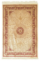 Qum silk signed: Kazemi carpet BTC30