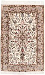 Isfahan silk warp signed: Enteshari carpet RZZZB16