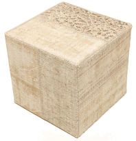 Patchwork stool ottoman carpet BHKW109