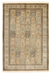 Kashmir pure silk carpet XVZA302