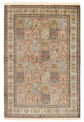 Kashmir pure silk carpet XVZA286
