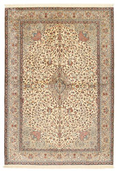 Kashmir pure silk carpet XVZA284