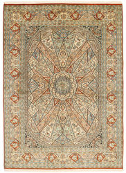 Kashmir pure silk carpet XVZA25