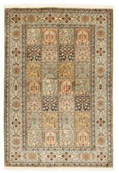 Kashmir pure silk carpet XVZA21