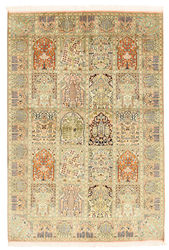 Kashmir pure silk carpet XVZA289