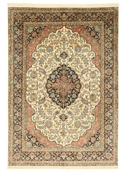 Kashmir pure silk carpet XVZA160