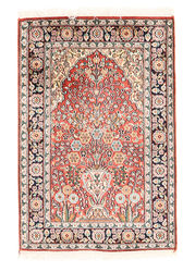 Kashmir pure silk carpet XVZA138