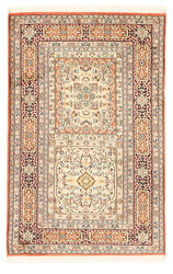 Kashmir pure silk carpet XVZA191