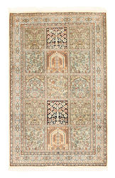 Kashmir pure silk carpet XVZA11