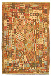 Kilim Afghan Old style carpet ABCL1013