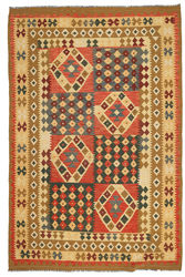 Kilim Afghan Old style carpet ABCL1141