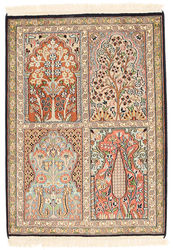 Kashmir pure silk carpet XVZC91