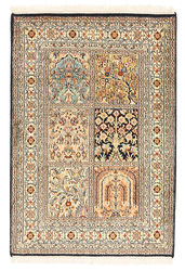 Kashmir pure silk carpet XVZC79