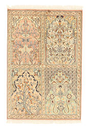 Kashmir pure silk carpet XVZC109