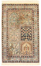 Kashmir pure silk carpet XVZC114