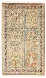 Kashmir pure silk carpet XVZC148