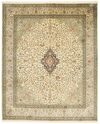 Kashmir pure silk carpet XVZC464