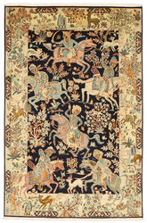 Kashmir pure silk pictorial carpet XVZC340