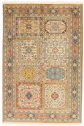 Kashmir pure silk carpet XVZC318