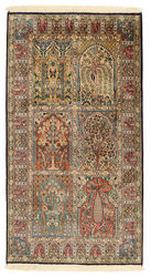 Kashmir pure silk carpet XVZC143