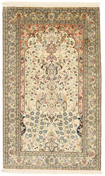 Kashmir pure silk carpet XVZC289