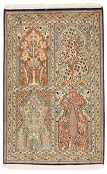 Kashmir pure silk carpet XVZC82