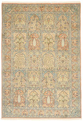 Kashmir pure silk carpet XVZC428