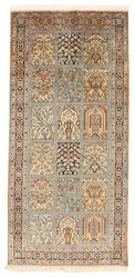 Kashmir pure silk carpet XVZC127