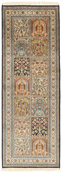 Kashmir pure silk carpet XVZC388